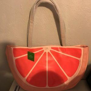 large Kate Spade grapefruit tote